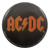AC/DC - 'Red Logo' Button Badge